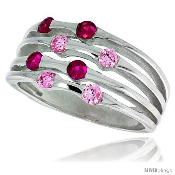 Size 6 - Highest Quality Sterling Silver 3/8 in (10 mm) wide Right Hand Ring,