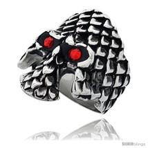 Size 11 - Surgical Steel Biker Ring Gothic Skul... - $31.26