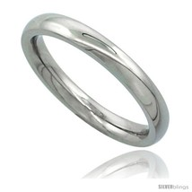 Size 8 - Surgical Steel 3mm Domed Wedding Band Thumb / Toe Ring Comfort-... - $19.58