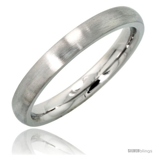 Size 7 - Surgical Steel 3mm Domed Wedding Band Thumb / Toe Ring Comfort-Fit