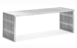 EZmod Modern Contemporary Rectangle Cubellis Stainless Steel Bench (Free... - £459.20 GBP