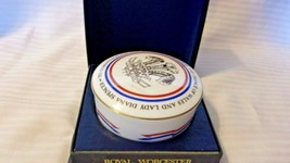Worcester Bone China Trinket Box to Commemorate Charles & Diana's Marria... - $74.25