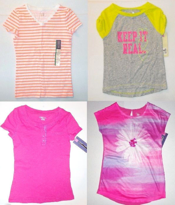 02ff6e7d Cherokee Girls T-Shirts Various Shirts Sizes S 6-6X, M 7-8 and L 10-12