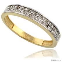Size 13.5 - 14k Gold Men's Diamond Band, w/ 0.10 Carat Brilliant Cut Diamonds,  - $591.21
