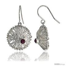 Sterling Silver Round Filigree Dangle Earrings w/ Brilliant Cut  - $74.50
