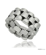 Size 10.5 - Surgical Steel Rolex Type Ring 10mm Wedding Band Polished  - £29.71 GBP
