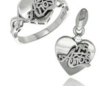 Uinceanera 15 anos heart ring pendant set cz stones rhodium finished style rpzh113 thumb155 crop