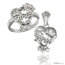 Size 8 - Sterling Silver Quinceanera 15 ANOS w/ Butterfly Triple Hearts ... - $70.76