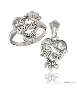 Size 8 - Sterling Silver Quinceanera 15 ANOS w/ Butterfly Triple Hearts ... - $85.16