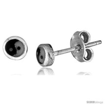 Tiny Sterling Silver Yin-Yang Nose Studs / Earrings 1/16  - $12.78
