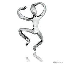 Sterling Silver Man Cuff Earring (one piece) 5/8  - $12.51