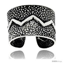 Sterling Silver Zigzag design Cuff Earring (one piece) 7/16  - $13.00