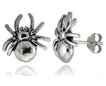 Tiny sterling silver spider stud earrings 1 2 in style es8 thumb155 crop