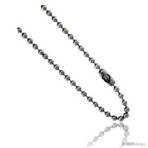 Length 34 - Stainless Steel Bead Ball Chain 3 mm thick available Necklaces  - $12.33