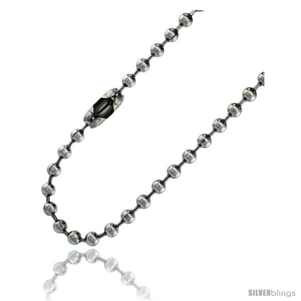 Length 18 - Stainless Steel Bead Ball Chain 4 mm thick available Necklaces