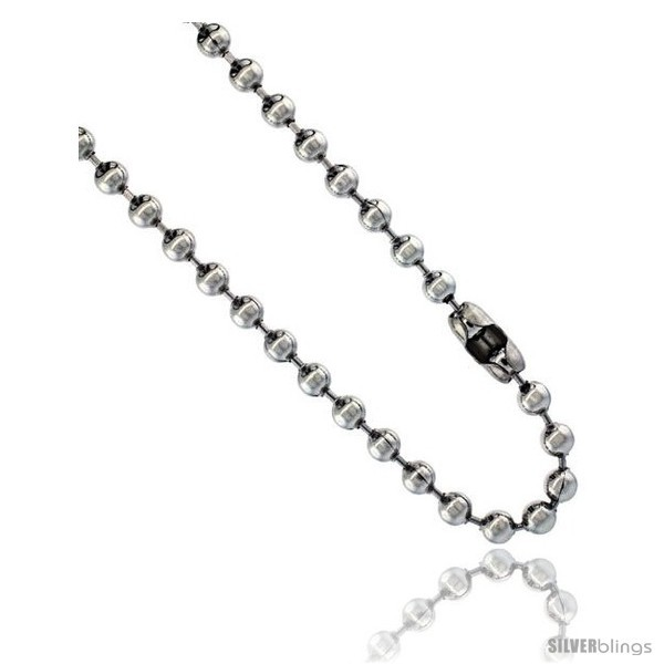 Stainless steel bead ball chain 5 mm thick available necklaces bracelets anklets