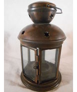 Colonial Style CANDLE Lamp LANTERN Metal Glass Uses Tealight or Votive (... - $11.00