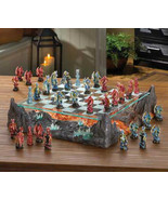 Colorful DRAGON Battle CHESS SET Glass Game Board Dragon Warriors MAGMA ... - $180.00