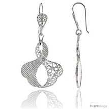 Sterling Silver 1 13/16in  (46 mm) tall Freeform Filigree Dangle  - $39.00