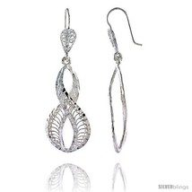 Sterling Silver 2in  (51 mm) tall Wavy Filigree Dangle  - $43.88
