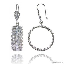 Sterling Silver 1 11/16in  (43 mm) tall Loop Filigree Dangle  - $84.59