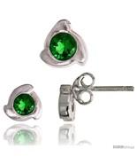Sterling Silver Matte-finish Fancy Stud Earrings (6 mm) & Pendant Slide ... - $37.36