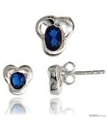 Sterling Silver Matte-finish Fancy Stud Earrings (7mm tall) & Pendant Sl... - $37.36