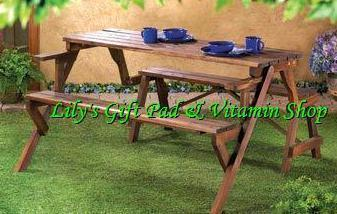 Convertible Garden Picnic Table Turns Into Park Bench Fir Wood 14649 Tables