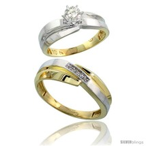 An item in the Jewelry & Watches category: Size 6 - 10k Yellow Gold 2-Piece Diamond wedding Engagement Ring Set for Him &