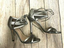 New Bcbg Maxazria Shoes Mesh Tie Heel Silver Size: Eur 37 - $42.06