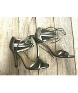new BCBG MAXAZRIA SHOES Mesh tie Heel Silver Size: EUR 37 - $42.06