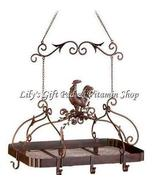 Country ROOSTER KITCHEN Overhead RACK Pots And Pans Holder Shelf (#12657) - $84.00