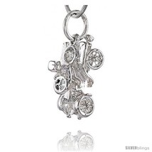 Sterling Silver Horseless Carriage Pendant, 3/4 in  - $45.26
