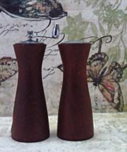 Vintage Mid Century Mod OLDE THOMAS Hardwood Pepper mill & Salt Shaker - $14.00