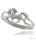 Size 8.5 - Sterling Silver Very Tiny Unicorn Ring Polished finish 1/4 in  - £8.19 GBP