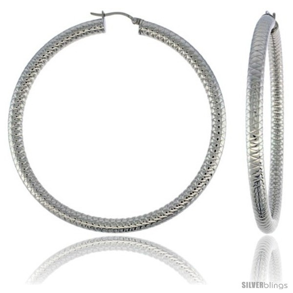 surgical steel hoop earrings 3 in and 50 similar items