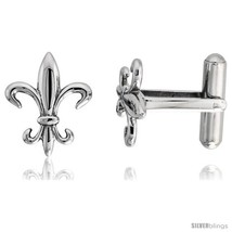Stainless Steel Fleur De Lis Cufflinks, 3/4 x 5/8  - $44.18