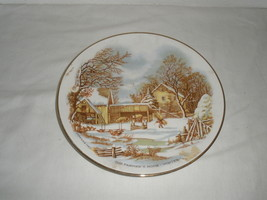 "Vintage The Farmer's Home ""Winter""  Currier & Ives Decorative Plate  - $21.75"