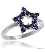 Size 6 - Highest Quality Sterling Silver 1/2 in (13 mm) wide Ladies' Star  - £43.39 GBP