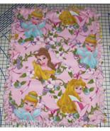 "Disney Princess Belle Cinderella Aurora Fleece Baby Blanket Pet Lap 30""x... - $39.95"
