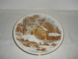 Vintage The Old Homestead in Winter Currier & Ives Decorative Plate  - $21.75