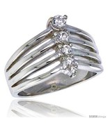 Size 7 - Highest Quality Sterling Silver 1/2 in (13 mm) wide Right Hand Journey  - $65.69