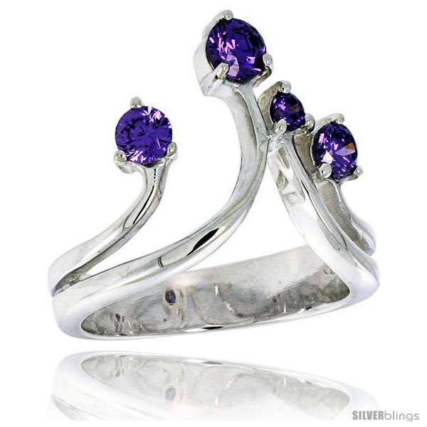 Size 6 - Highest Quality Sterling Silver 3/4 in (19 mm) wide Right Hand Ring,  - $70.62