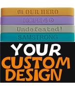 100 Custom Debossed Wrist Bands (wristbands) low price - $69.98