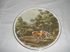 "Vintage American Farmer Scene ""Spring"" Currier & Ives Decorative Plate  - $21.75"