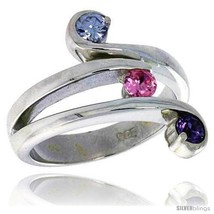 Size 6 - Highest Quality Sterling Silver 3/4 in (17 mm) wide Right Hand ... - $67.70
