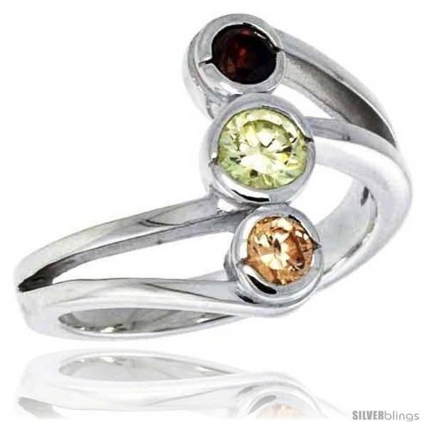 Primary image for Size 6 - Highest Quality Sterling Silver 5/8 in (16 mm) wide Right Hand Ring,