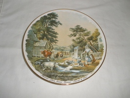 "Vintage American Farmer Scene ""Summer"" Currier & Ives Decorative Plate  - $21.75"