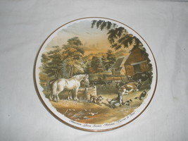 "Vintage American Farmer Scene ""Autumn"" Currier & Ives Decorative Plate  - $21.75"