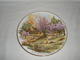 "Vintage American Homestead ""Spring"" Currier & Ives Decorative Plate  - $21.75"